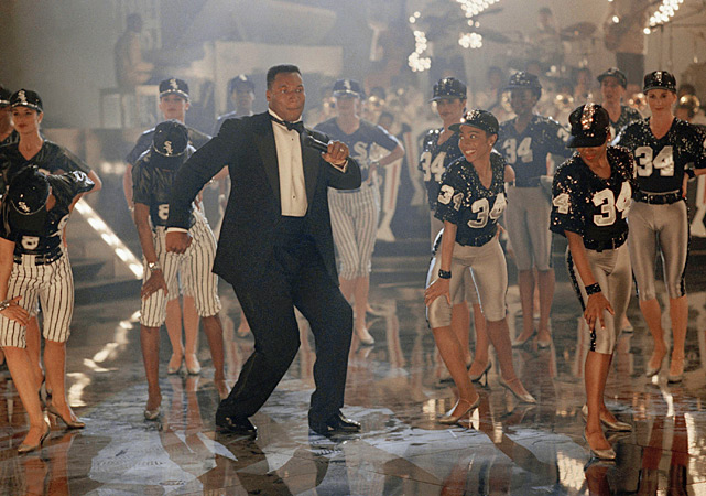 Jackson shows off his dance moves during the taping of a Nike commercial.