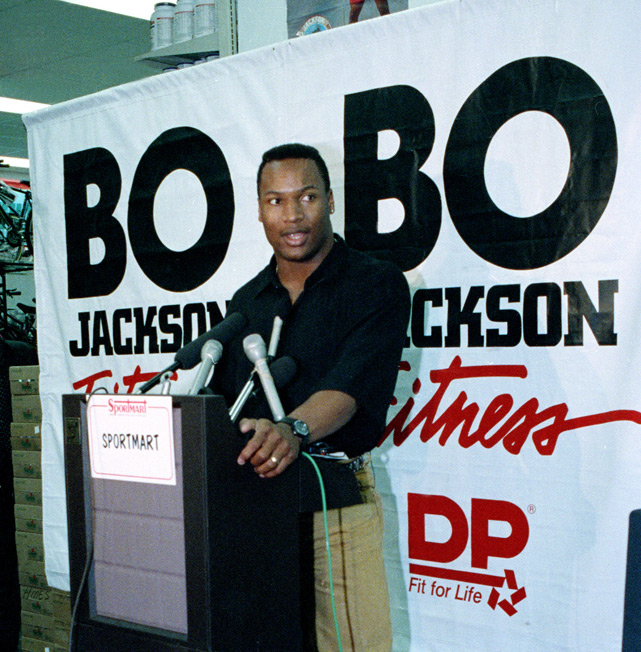 During a promotional stop at a sporting goods store in Nov. 1991, Jackson announced that he would be retiring from football after suffering a hip injury.