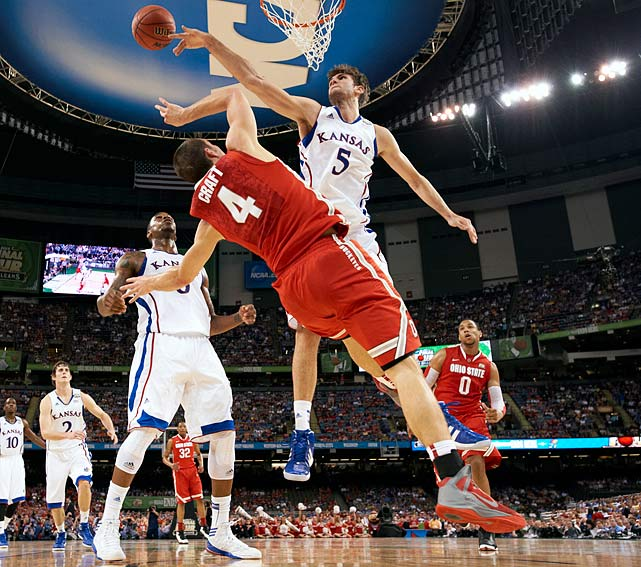 The Jayhawks couldn't have reached the national title game without Withey, the shot-swatting key to their elite defense. He blocked a higher percentage of opponents' attempts (15.3) than Anthony Davis did (13.8) last season, while also rebounding at a high level. As important as Craft is to Ohio State's D, there's nothing more valuable than a dominant shot-changer in the paint -- and there's no better one than Withey.