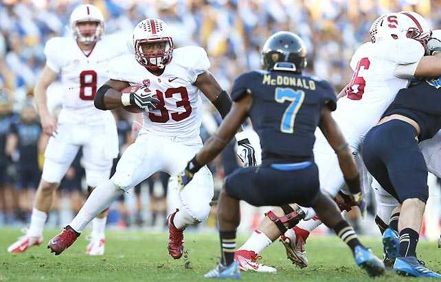 Ready for a rematch? By beating UCLA in Week 13, Stanford clinched the Pac-12 North to set up a conference title game matchup with ... UCLA. Stepfan Taylor (pictured) rushed for 142 yards and two touchdowns, while Kevin Hogan passed for 160 yards and a score. Stanford has produced three consecutive 10-win seasons for the first time in program history.