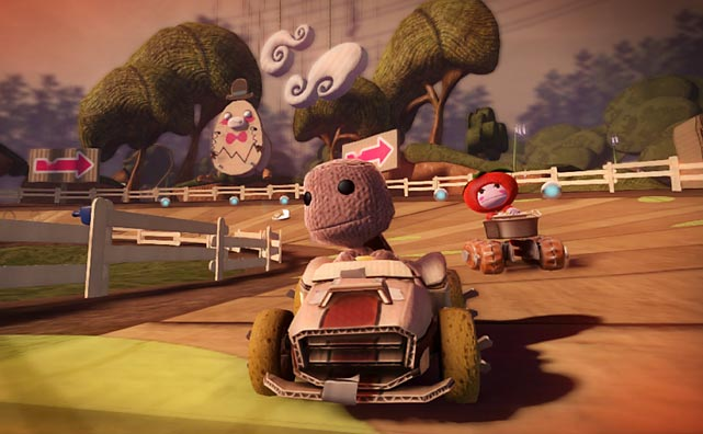 It seems like every franchise inevitably finds its way to a karting sequel (although it must be said that Halo Kart would be pretty epic...), but LittleBigPlanet lends itself better to the format than most. The unflappable Sackboy is back again in yet another Stephen Fry-voiced, bonkers plot about having to remove meanies from his paper cutout world - this time, though, through the power of go-karts. Look, just ignore the plot and go with it, okay?   LBP Karting retains pretty much everything fans of the series will expect: the cutesy characters, the bizarre environs and the focus on creativity, and it all actually lends itself really well. The controls are, in classic LBP fashion, floatier than what you'd find in the Mario variant, but they feel appropriate for the game. Players have the usual kart racer powerups that can instantly upend the balance of a race (woe be unto the player in first place), and there's a huge variety of options for track creation and a great marketplace in which to share them.   The kart racer crown still belongs to Mario, but PS3 owners will have a lot to like in LBP Karting.   Score: 8 out of 10