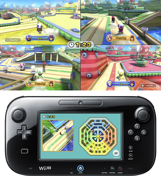 Nintendo Land is a collection of mini-games designed to show off the diverse functionality of the Wii U's GamePad. The game's hub, a theme park, provides access to 12 games. The games are all modeled after iconic Nintendo franchises like Mario Chase, Donkey Kong's Crash Course and The Legend of Zelda: Battle Quest. You can play nine of them alone but the rest are strictly multiplayer. Many games allow up to five players, with four using Wii Remotes and one using the GamePad. The GamePad typically offers a different perspective or gameplay advantage. Some games utilize the gyroscope for titling, others use the stylus and touch capabilities. Nintendo Land is ideal for having friends over, but solo gamers might not get the same level of engagement. Nintendo Land is offered as a pack-in game with the Deluxe version of the Wii U, but it can be purchased separately as well.   Score: 8 out of 10