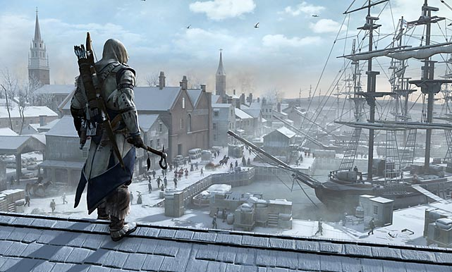 Actually the fifth Assassin's Creed console release, AC III takes the time-traveling narrative of the franchise in a new direction: specifically, the American Revolutionary War. Moving on from Altair and Ezio, players now take the role of Connor, a half-American-Indian assassin sent from Europe to uncover mysterious artifacts in the New World. Like the previous games, the bulk of the adventure takes place in an open world which players can explore using a variety of climbing parkour-style moves. There is a narrative to follow, but there's also lots of opportunities to seek out missions from bystanders and explore the virginal American continent. The beginning of the game is more tightly scripted than in years past, but once the story is set up players are left with the freedom they've come to expect. The game looks amazing, with better-than-average character and clothing designs and art direction. Even better, the voice acting is almost entirely convincing. Naval battles offer yet another new wrinkle this year. The Assassin's Creed plot arc has really become one of the most interesting and novel stories in gaming, and this year's iteration offers plenty of thrills and new adventures for fans, while retaining everything that made it great to begin with.   Score: 9 out of 10