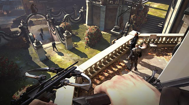 Dishonored plays like the offspring of some of the great franchises of PC memory: Deus Ex, Thief and, more recently, Bioshock. Players assume the role of an assassin, Corvo, wrongly accused of the murder of his beloved empress, fighting and sneaking through a plague-infested steampunk city to solve the mystery of her death and to search for her kidnapped young daughter. The game does an excellent job with setting a grim tone with superb art direction and sound. Play mechanics are generally excellent, with killing enemies being entirely optional. As players level up their character, he gains supernatural abilities to see through walls, teleport for short distances and, depending on whether players want to be stealthy or deadly, his skills can be customized to their play style. The only real ding on the game is its cover and stealth system, which sometimes makes it challenging to tell how visible the player is -- Thief handled that much better with its light gem system back in 1998. Still, in an industry rife with sequel after sequel, Dishonored's high quality experience builds handily on the successes of its influencers while being unafraid to strike out in new directions.   Score: 8 out of 10