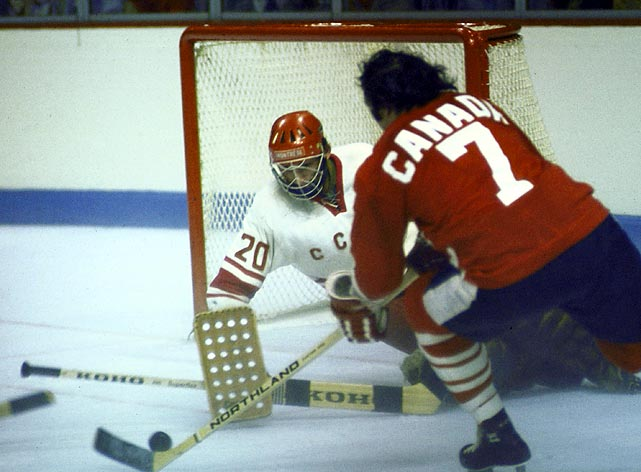 In the first-ever series involving NHL players, Team Canada defeated the formidable Soviet Union in the 1972 Summit Series. The Canadians went 4-3-1 in the eight-game series, which lasted nearly a month.