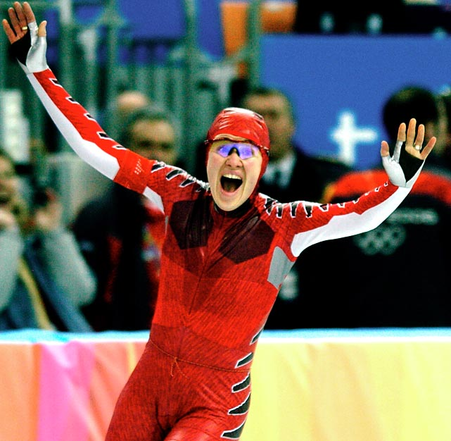 Cyclist and speed skater Clara Hughes has won medals in the past three Winter Olympics, including a gold medal in the 5000 meters in 2006.