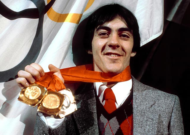 Speed skater Gaetan Boucher won silver at the 1980 Lake Placid Games and added to his collection with three more medals in 1984 -- two gold.