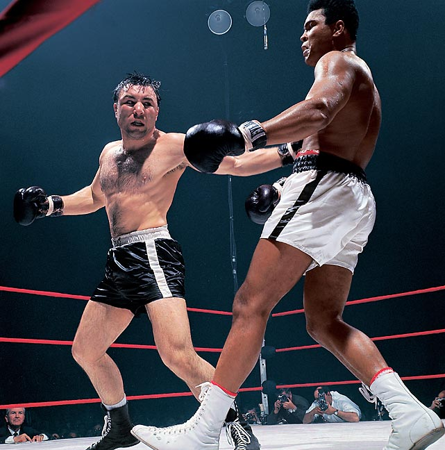 Heavyweight boxer George Chuvalo participated in 93 fights from 1956 to 1973, going the distance two times -- albeit losing both decisions -- against Muhammad Ali.