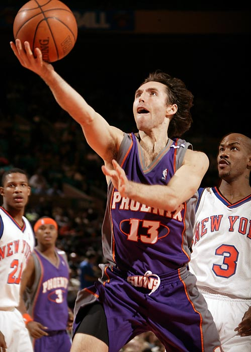 There are about two dozen Canadians currently in the NBA, but Steve Nash is undoubtedly at the top of the list. An eight-time All-Star, Nash averages 8.6 assists per game.