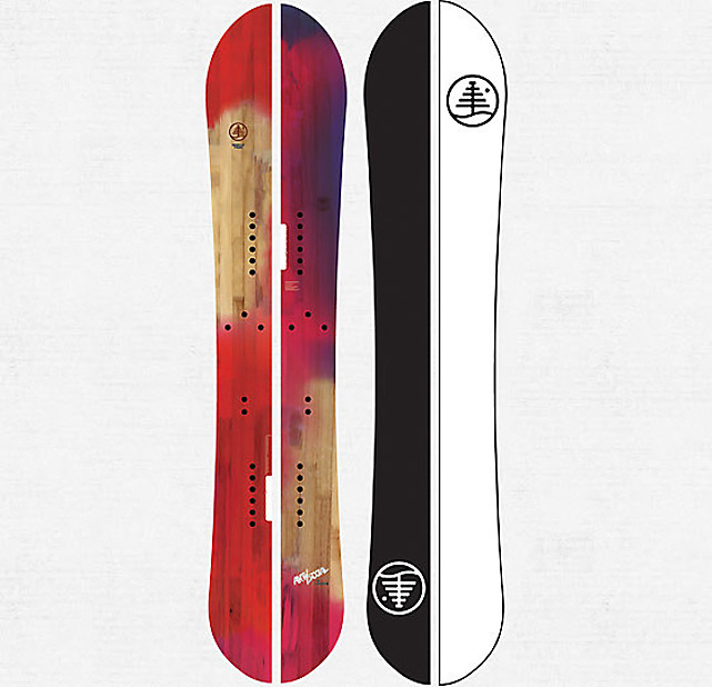 Tired of waiting in line at the lifts when it's a powder day? This snow-slayer snaps apart, transforming into a pair of lightweight hiking skis. Slap skins on the bottom and you're climbing up the backcountry in minutes. Bonus: the edges have been tapered at the tail and tip to provide maximum floatation while riding the pow. $700 at   burton.com