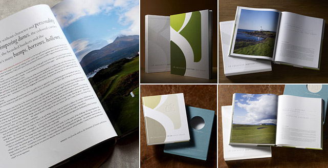 "For all of the Kindle's charms, one thing that it can't match is the majesty of a beautifully photographed coffee table book. This limited edition book,18 Greatest Irish Golf Holes, will have every golf fan booking a trip to visit the Green Isle on a ""business trip."" 18 Greatest Scottish Golf Holes is also available. $199 at   http://18greatestgolf.com/"