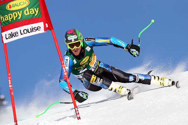 American Ted Ligety competes in the Audi FIS Alpine Ski World Cup SuperG in Lake Louise, Canada.