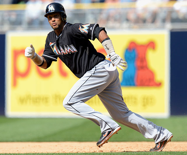 2012 salary: $2.2 million 2012 stats with Marlins:  244 AB, 30 R, 1 HR, 11 RBI, 30 SB, .258 AVG, .330 OBP