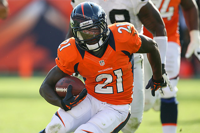 Veteran Willis McGahee is down with a knee injury, opening the door for Hillman to take the reins of a Denver rushing attack averaging 105.3 yards per game. The Chiefs are in the middle of the pack in terms of rushing yards allowed, but give up more than 20 fantasy points per game to enemy runners, which makes them one of the easiest clubs to score against. This should be Hillman's coming-out party.