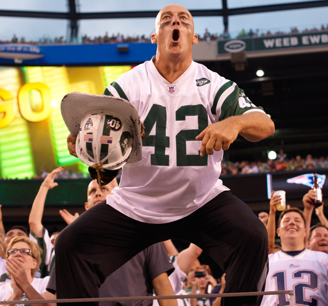 "New York Jets superfan Fireman Ed Anzalone, who has led the famous ""J-E-T-S"" cheer for decades, has decided to call it quits. In a guest column for  New York Metro , Anzalone explains how confrontations with other Jets fans led to his decision. While Jets supporters mourn the loss of their biggest booster, SI looks at other famous sports superfans, past and present."