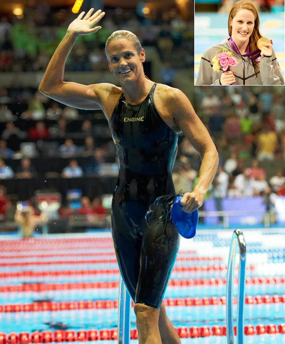 My pick for SI Sportswoman of the year is Missy Franklin.  She won five medals in London -- 4 gold and 1 bronze. Amazingly, she won & broke the American Record in the 100 backstroke in London, just 16 minutes after swimming a 200 Free semifinal.  She also won the 200 backstroke in London in world record time. What may have been most impressive, though, is that Missy is only 17 years old. She had never made the Olympic team previously, and with the media attention and hype that had been thrown in her direction in the lead-up to the Trials, there was almost no way she would be able to come through.  Yet, that is exactly what she did.  And she did it all with a wonderful, team-first attitude and a smile on her face.