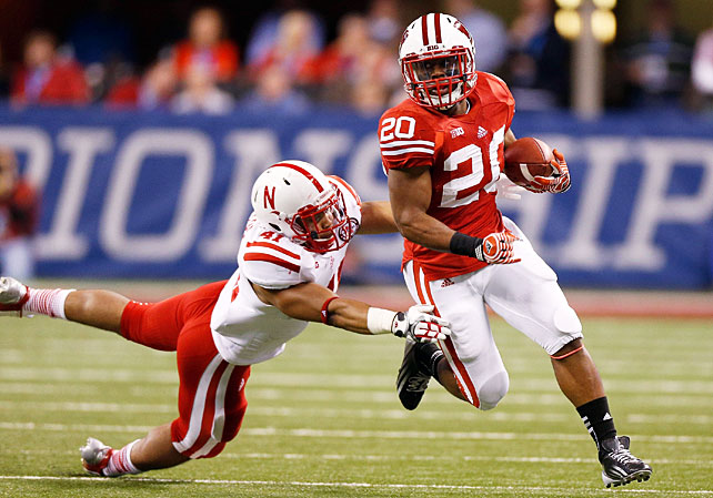 Wisconsin's playmakers went off in a major way in the Big Ten title game on Saturday night. The Badgers exploded for 640 yards of total offense, an output that was fueled almost entirely on the ground. Melvin Gordon ran for 216 yards and a touchdown, Montee Ball raced for 202 yards and three scores and James White (pictured) racked up 109 yards and four touchdowns. Despite losing five games over the course of the regular season, Wisconsin will advance to the Rose Bowl to play Stanford.
