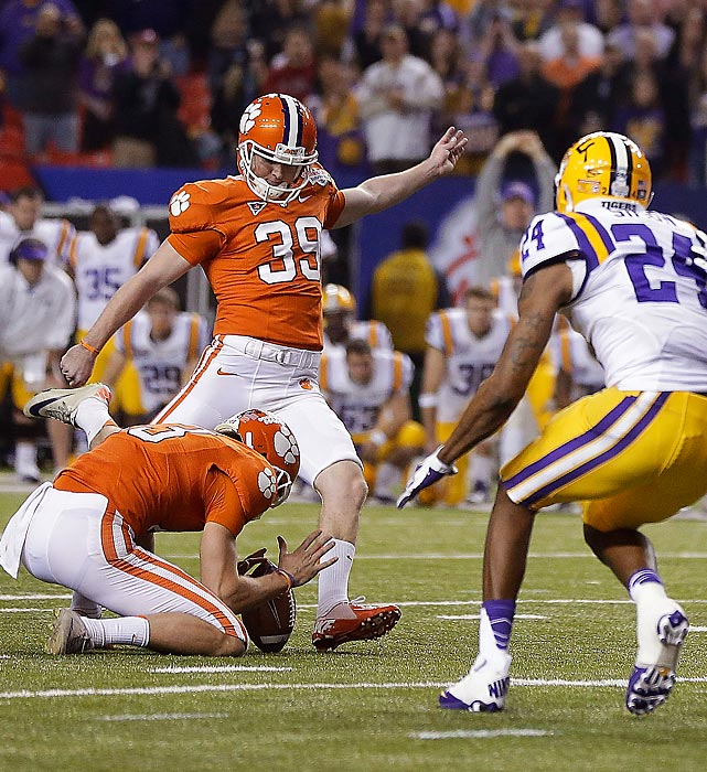 Catanzaro had an extra point blocked midway through the second quarter, but that didn't stop him from sinking LSU late. The former walk-on from Greenville, S.C., connected on both of his fourth-quarter field goal attempts -- including the game-winning 37-yarder as time expired in the Chick-fil-A Bowl.