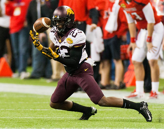 Though the Gophers eventually fell short in their bid to upset Texas Tech, Carter turned in a memorable Meineke Car Care Bowl of Texas. Minnesota's senior corner intercepted Red Raiders quarterback Seth Doege on back-to-back drives in the fourth quarter.