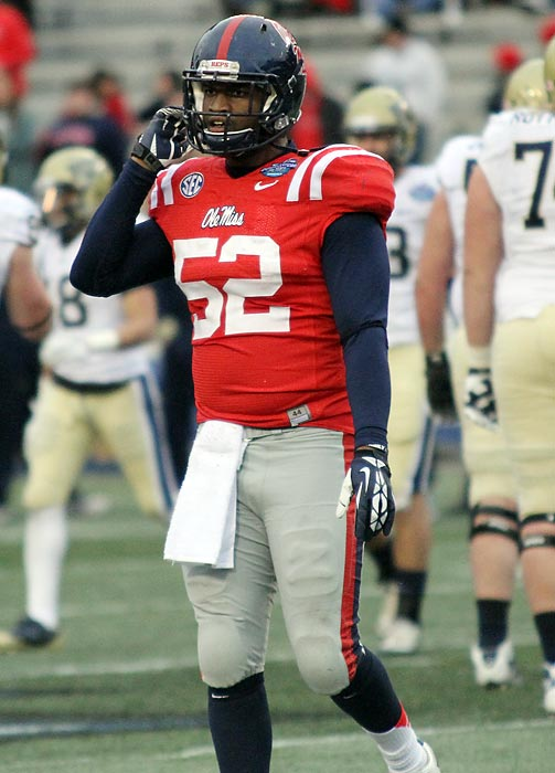 The 6-2, 248-pound junior made life miserable for Pittsburgh's sputtering offense.  Marry tallied seven tackles, four tackles for loss and a forced fumble to complete Ole Miss' turnaround campaign: With a BBVA Compass Bowl victory, the Rebels went from 2-10 to 7-6 in their first year under coach Hugh Freeze.