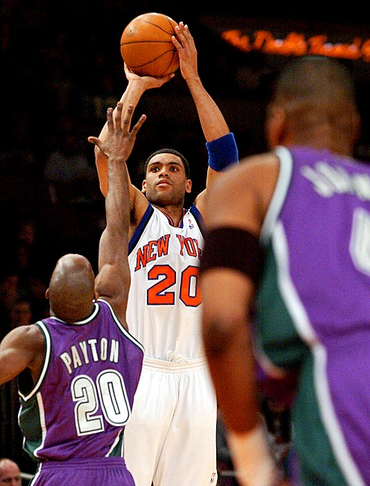 50 vs Milwaukee (March 16, 2003, Pictured) 53 vs Lakers (February 16, 2003)