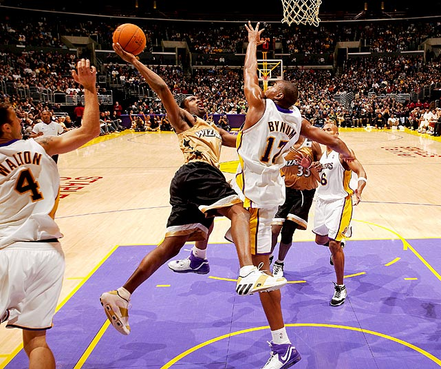 51 vs Utah (January 15, 2007) 54 vs Phoenix (December 22, 2006) 60 vs Lakers (December 17, 2006, Pictured)