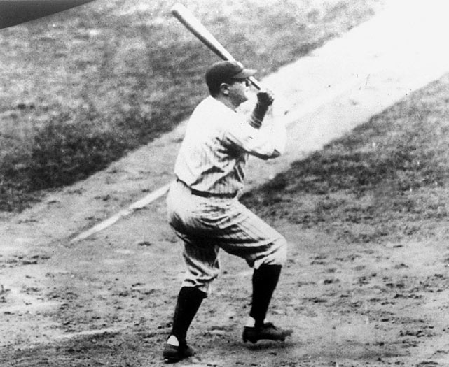 Ruth first set the single-season home run record in 1919 with 29, then broke it each of the next two years by hitting 54 in 1920 and 59 in 1921. Over the next five years, he hit 194 homers but never reached 50 in a season, leading some to wonder if his best homer-hitting days were behind him. Entering the final month of the 1927 season, he had 43 home runs but went on a tear and hit 17 the rest of the way, including the record-setting 60th on the next-to-last day of the season.