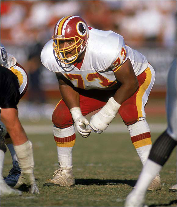 "To Redskins OL Mark May: ""How does it feel to block for the first black quarterback in the Super Bowl?"