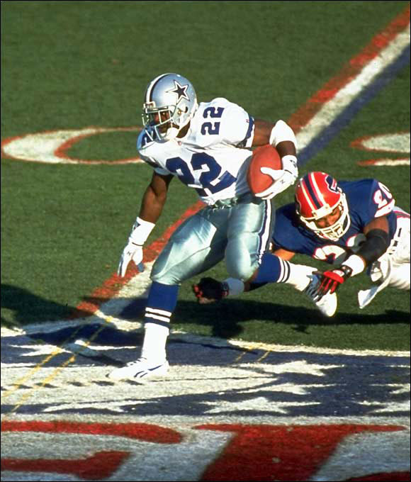"To Cowboys RB Emmitt Smith: ""What are you going to wear in the game Sunday?"""