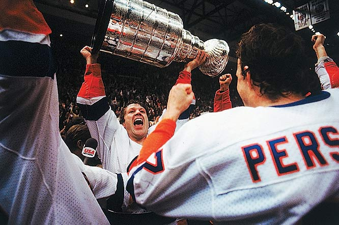 In winning four consecutive Stanley Cups and appearing in the Finals the following year, the New York Islanders won 19 straight playoff series from 1980 to 1984.