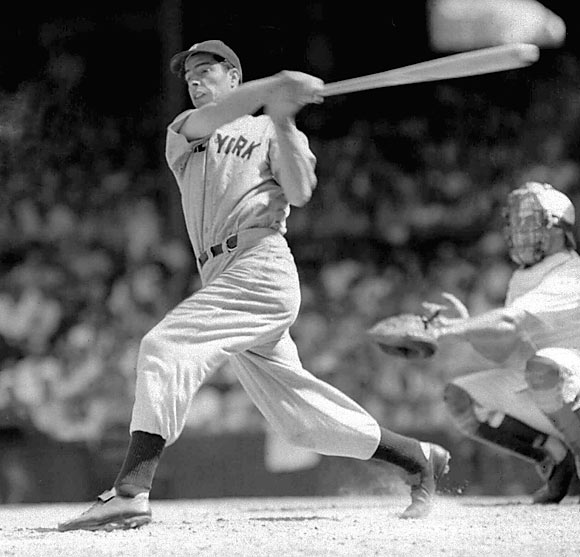 Joe DiMaggio's 56-game hitting streak in 1941.