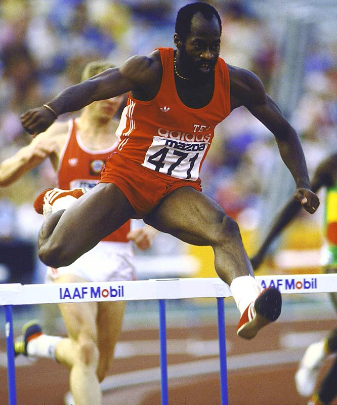 Edwin Moses' 122 consecutive wins in the 400-meter hurdles from 1977 to 1987.