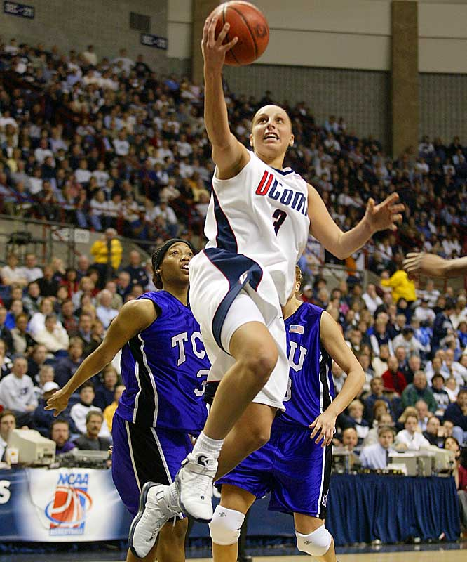 The Connecticut women tied the program's own record of 70 consecutive wins with its March 7 victory over Syracuse, and can break that mark with a March 8 win over Notre Dame. UConn also won 70 straight between 2001 and 2003, when Diana Taurasi (pictured) ran the show. Here are some of the other most revered streaks in sports.