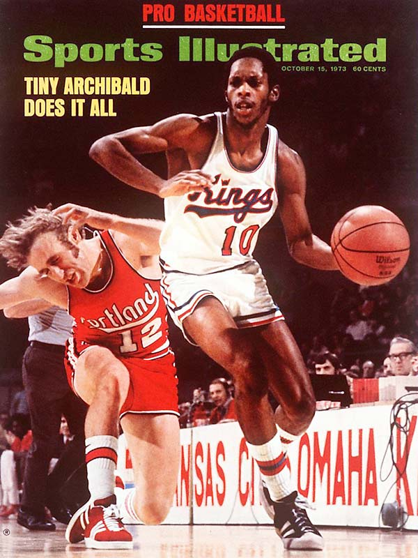 In his third year, Tiny became the only player in history to lead the league in scoring and assists in the same season. He averaged 18.8 points and 7.4 assists in a 14-year Hall of Fame career that included a 1981 title with the Celtics.