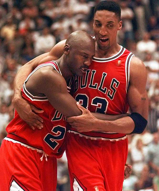 """Forever known as the """"Flu Game,"""" Michael Jordan fought off an energy-zapping bout with influenza to get 38 points, seven boards, five assists and three steals -- including the game-winning three pointer with 25 seconds left -- in the Bulls' 90-88 road victory. Chicago won Game 6 to clinch its fifth championship in seven seasons."""