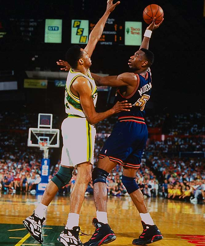 In a dream season of 63 wins, the Sonics, led by Gary Payton and Shawn Kemp, were heavy favorites to win the West. But their championship wishes were squashed by Dikembe Mutombo and the No. 8 Nuggets, who withstood two early blowout losses before rallying, capped by a 98-94 Game 5 triumph in Seattle. Denver became the first No. 8 seed to beat a No. 1.