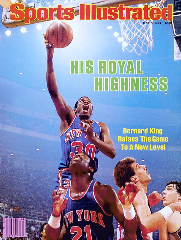 The Knicks won this epic series and pushed the eventual-champion Celtics to seven games in the East semis. But all discussion with the Knicks and Pistons begins and ends with Detroit's Isiah Thomas, who scored 15 points in 91 seconds to force overtime ... and Bernard King, who lifted the Knicks to a 127-123 victory, while averaging 42.6 points in the series (a five-game record).