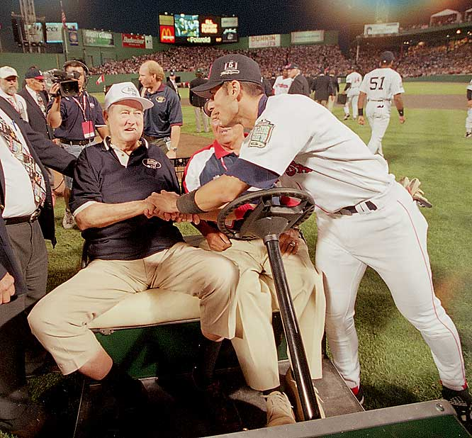 Boston legend Ted Williams was among 41 legends introduced before the 1999 game, but none elicited a bigger reaction than the Splended Splinter.