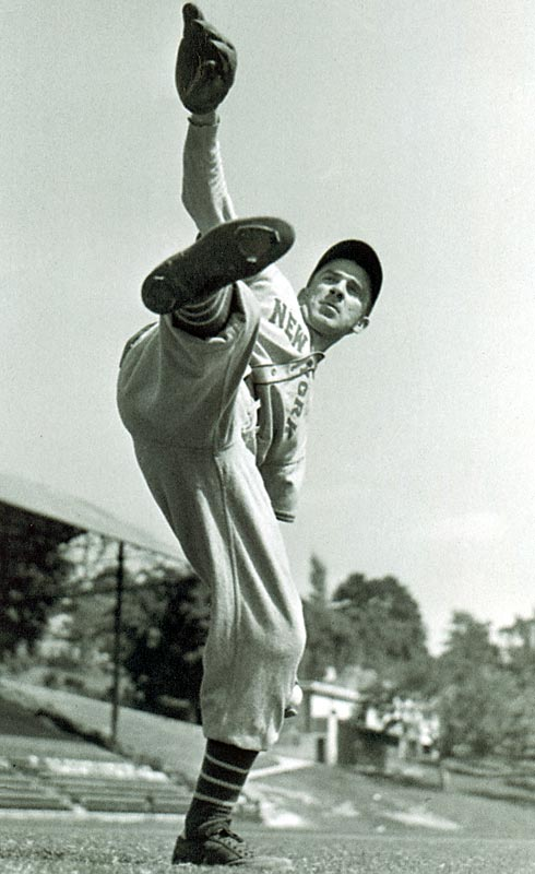 Future Hall of Famer Carl Hubbell of the Giants made All-Star history by striking out Babe Ruth, Lou Gehrig, Jimmy Foxx, Al Simmons and Joe Cronin in succession at the Polo Grounds in New York.