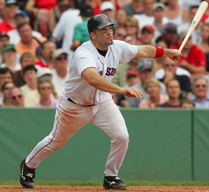 Doug Mirabelli may only trail David Ortiz by a few inches and about 10 pounds, but Big Papi's bat appeared to be too much for Sox catcher to handle back in 2005. Mirabelli sprained his wrist trying to swing Ortiz's lumber and missed 21 games.