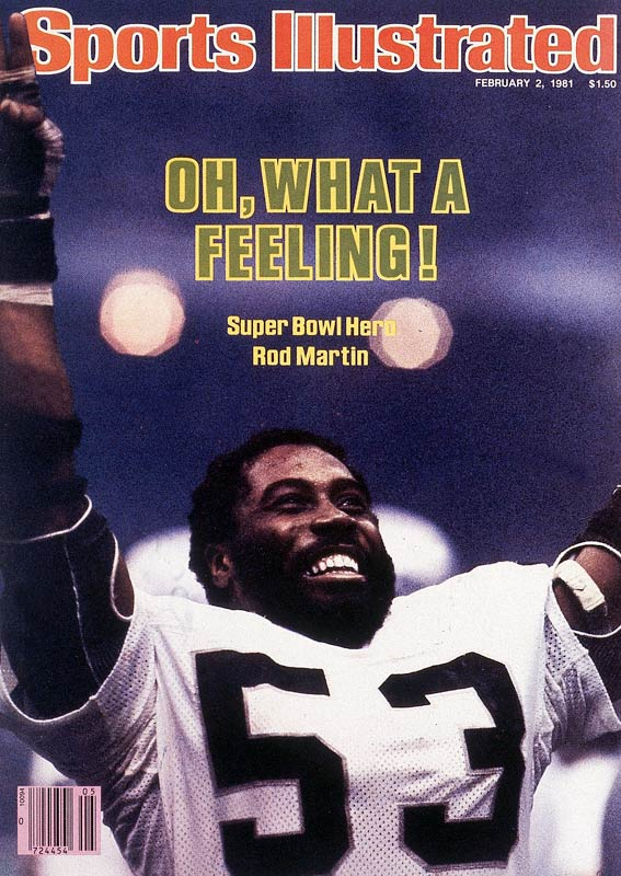 Martin picked off Ron Jaworski's first pass to set the table for Oakland's game-opening touchdown. The two-time Pro Bowler would intercept the Polish Rifle two more times, setting the Super Bowl record for interceptions while leading the Raiders to a mildly surprising 27-10 victory over the Eagles.