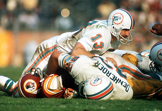 Scott helped the Dolphins put an exclamation point on the lone Perfect Season in NFL history with a two-interception performance in Super Bowl VII. His fourth-quarter pick in the end zone -- and subsequent 55-yard return -- iced the victory for the Dolphins. As a result, the five-time Pro Bowler became the second defensive player to garner Super Bowl MVP honors.
