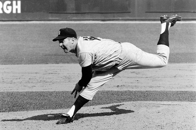 Ford started more games (22), pitched more innings (154) and struck out more batters (94) than any other pitcher in World Series history. His .690 winning percentage (career record: 236-106) is among the highest winning percentages of starters with 200 decisions. In 1961 he led the AL with a 25-4 record.Runner-up: Hal NewhouserWorthy of consideration: Garret Anderson, Dwight Gooden, Bo Jackson, Ted Lyons, Scott McGregor and Frank Viola