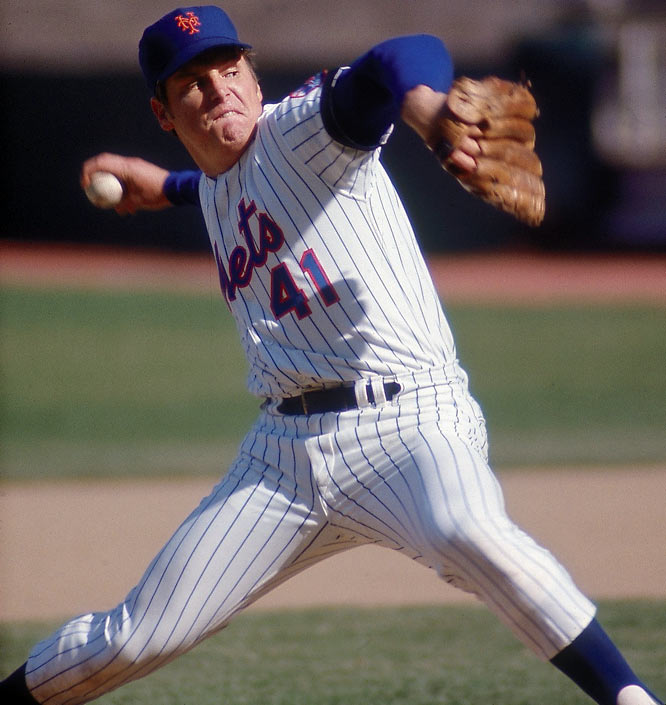 A three-time Cy Young Award winner, ''Tom Terrific'' won 311 games and set a National League record with 3,272 strikeouts.Runner-up: Eddie MathewsWorthy of consideration: Victor Martinez