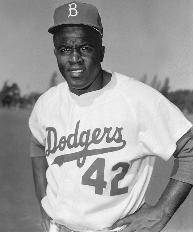 His No. 42 was retired by baseball on April 15, 1997, the 50th anniversary of his debut. Robinson wore No. 18 as a basketball player at UCLA.Runner-up: Mariano RiveraWorthy of consideration: Bruce Sutter and Mo Vaughn