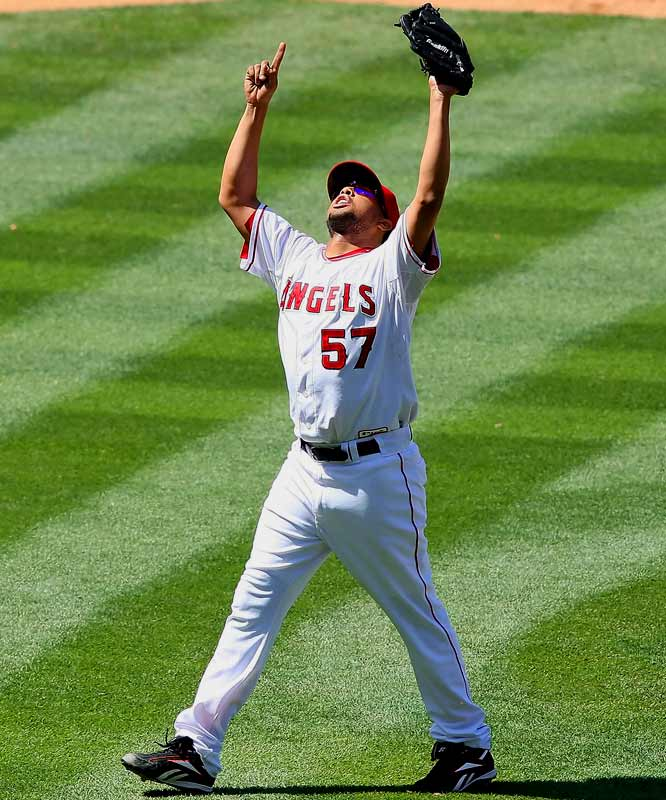 Rodriguez enjoyed a meteoric rise to stardom during the latter stages of the 2002 season with the Angels. After joining the club in mid-September thanks to a rash of injuries in the bullpen, ''K-Rod'' won five games during the playoffs -- including an 11-10 victory in Game 2 of the World Series -- despite never having won a regular-season decision in the majors.Runner-up: Johan SantanaWorthy of consideration: Darryl Kile and John Wetteland (Expos)