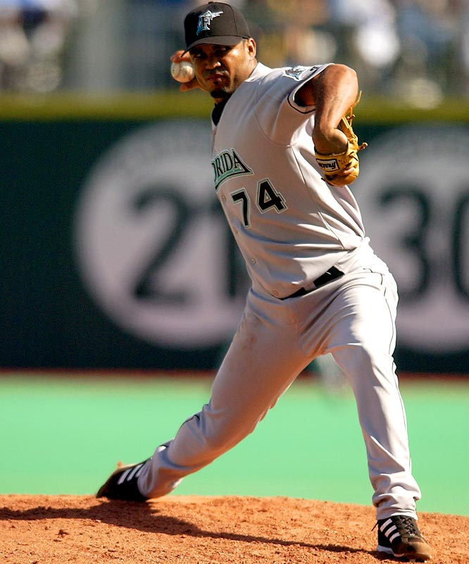 He had 237 career saves (30th best all-time) over 11 major league seasons for six teams, including a pair of All-Star selections (1998, 2002). Urbina was part of the Marlins team that won a World Series in 2003. Last year he was sentenced to 14 years in prison in his native Venezuela for the attempted murder of five workers on his family's ranch.