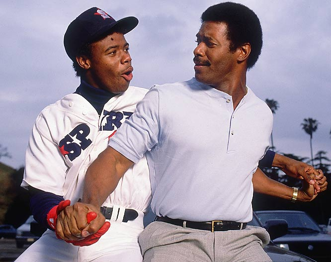 Griffey Jr. had to grapple with following in the footsteps of his three-time All-Star father of the same name, but it wasn't long before the younger Griffey made a name for himself, starting with being the No. 1 pick in the 1987 draft.