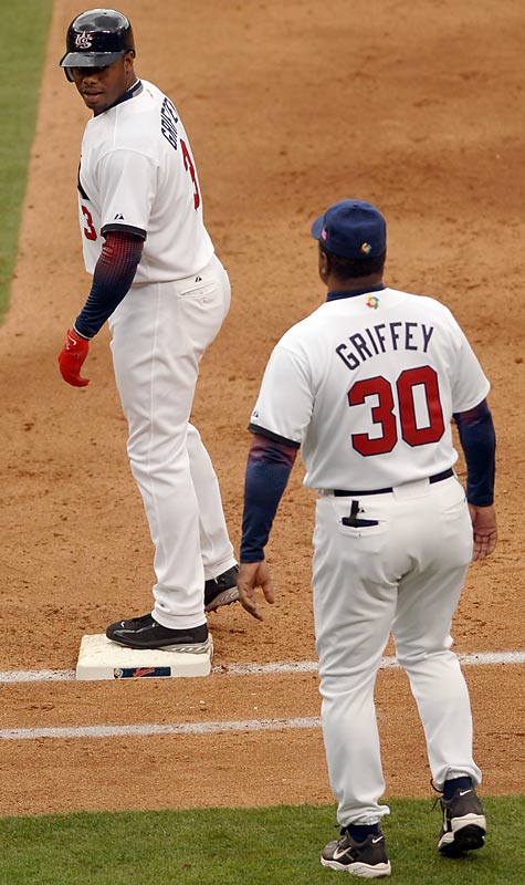 In 2006, Griffey played for Team USA, and his father joined him as a coach, at the inaugural World Baseball Classic. While Griffey starred, batting .524 and being named to the All-WBC team, the U.S. was a huge disappointment, failing to reach the semifinals.