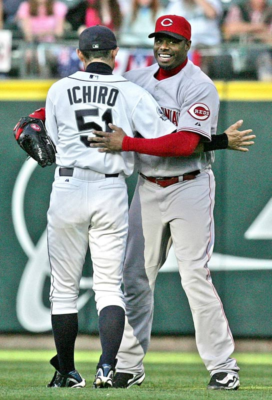 It took seven years, but Griffey finally returned to Seattle in June 2007 for his first games in the Emerald City since being traded away. Ichiro was the new star in town, but Griffey earned plenty of cheers, especially after hitting a pair of home runs in the series finale.